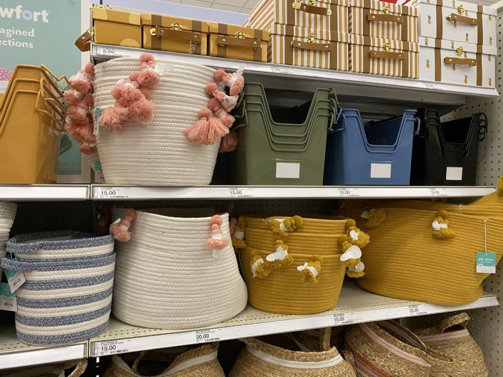 rope basket and tassels
