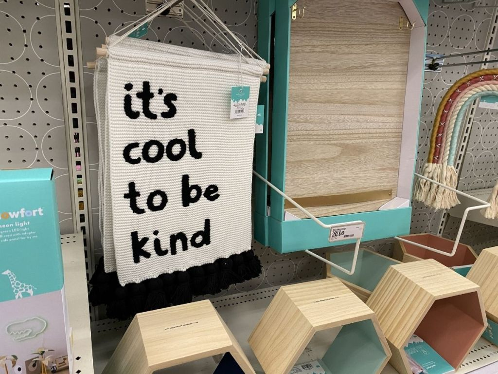 its cool to be kind wall hanging