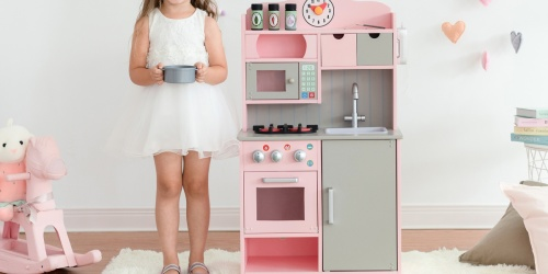 Wooden Retro Play Kitchen Just $59.99 Shipped on Walmart.com (Regularly $187)