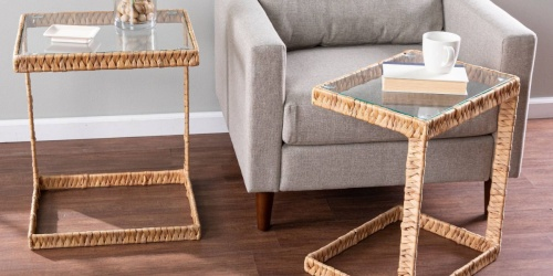 Trendy Rattan Side Tables Just $80.75 Each Shipped on Target.com