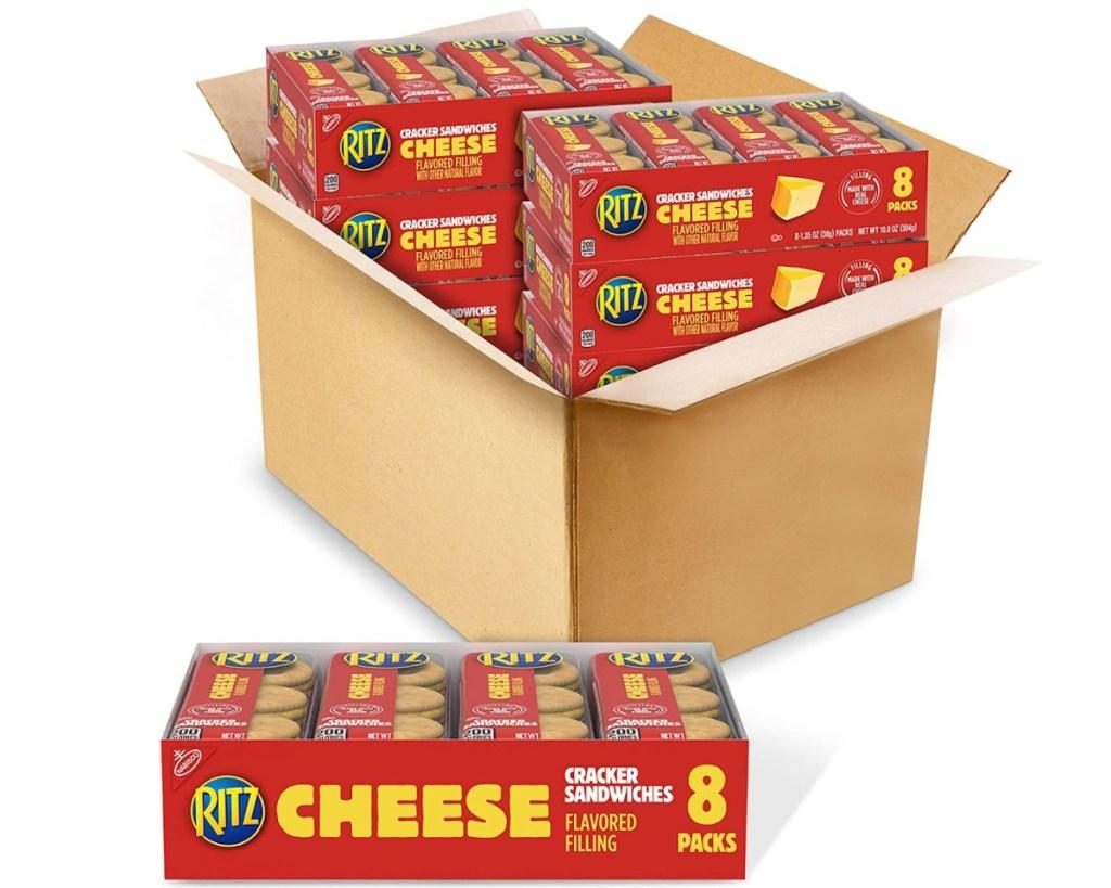ritz cheese crackers in box