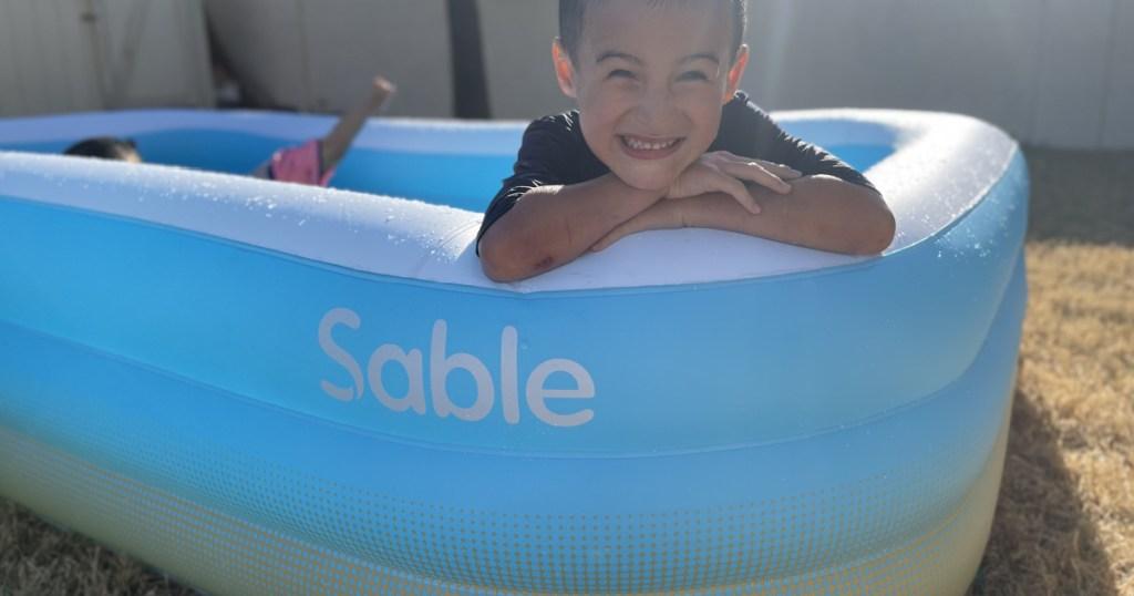 kids in sable pool