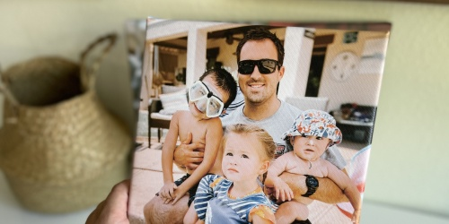 3 Canvas Photo Prints Only $24 Shipped   Great Gift Idea for Dad