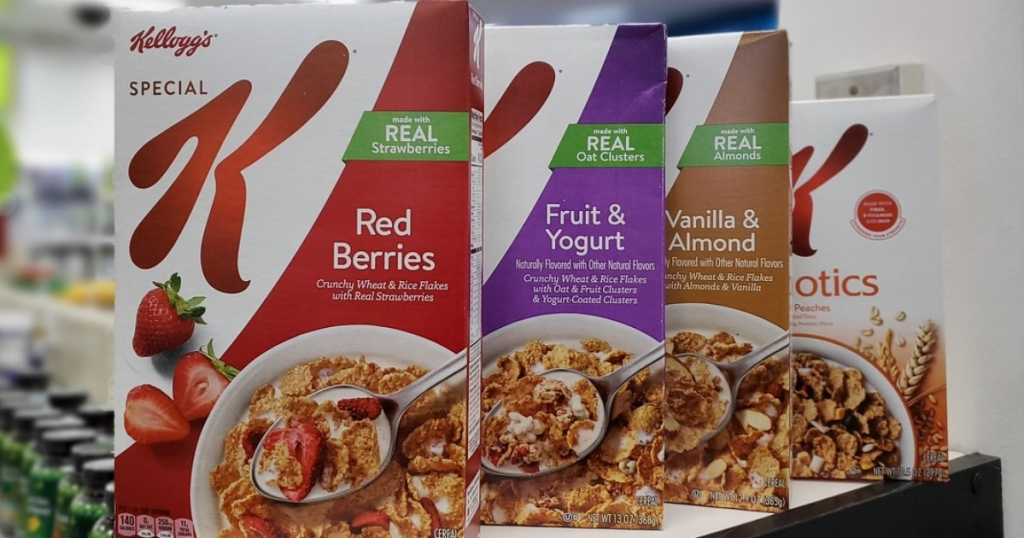 4 boxes of Special K Cereals