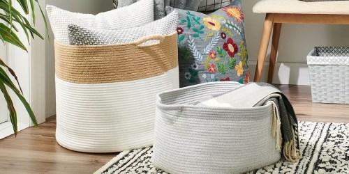 Storage Bins & Baskets from $8 on Kohl's (Regularly $23+)