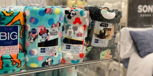 Disney Plush Throws from $7 Shipped for Select Kohl's Cardholders | HOT Buys on Kids Decor & More