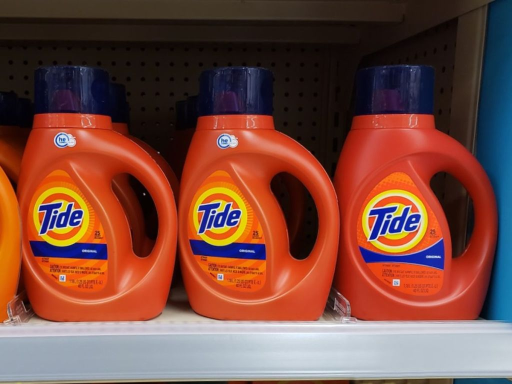 3 bottles of Tide