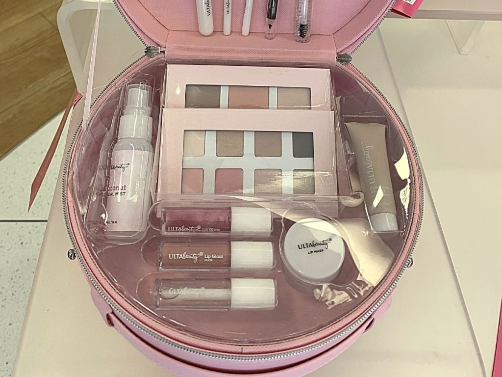 close up of pink Ulta beauty box