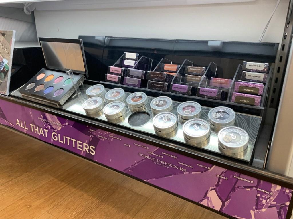 store display of eye make up