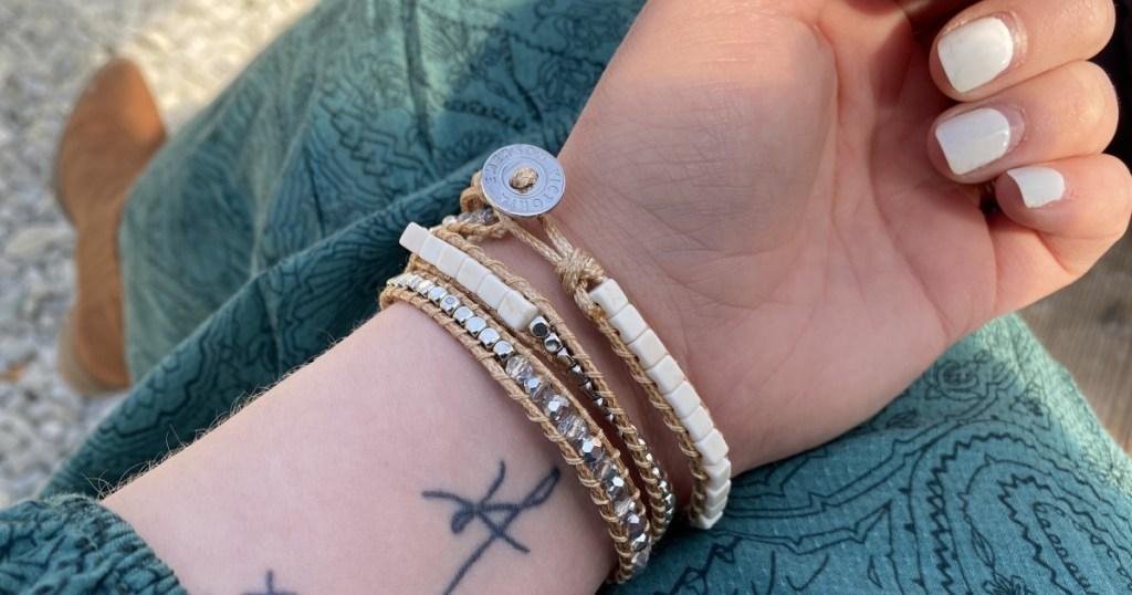 victoria emerson bracelet on arm