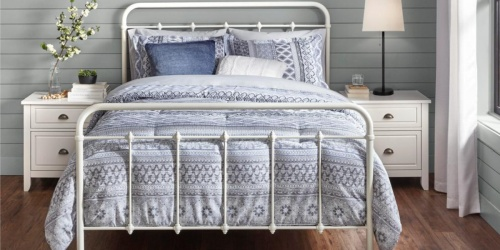Farmhouse Metal Bed Frame from $137 Shipped on HomeDepot.com (Regularly $229)