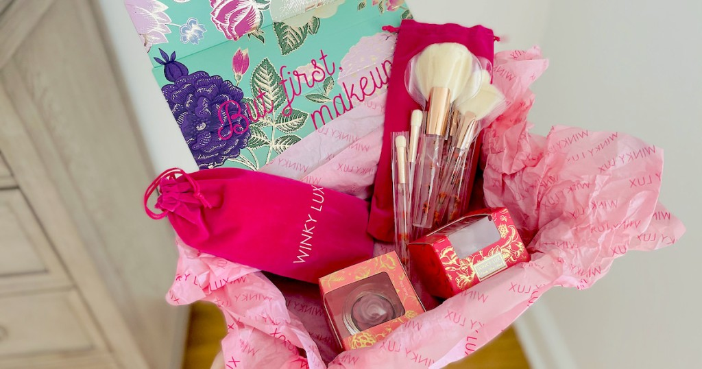 box full of winky lux makeup