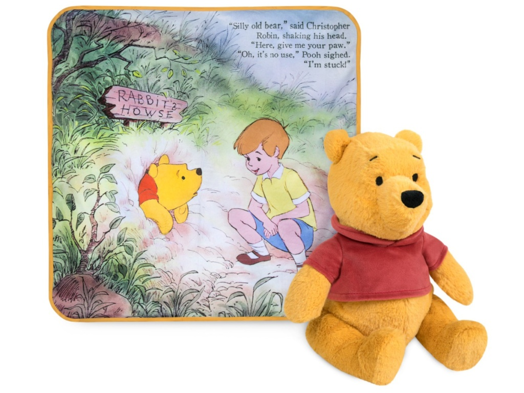 winnie the pooh gift set blanket and plush