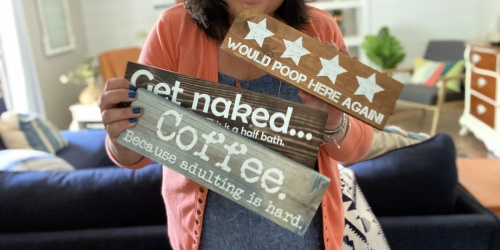 3 Custom Quote Wood Signs ONLY $49 Shipped (Just $16 Each) | Great Gift Ideas!