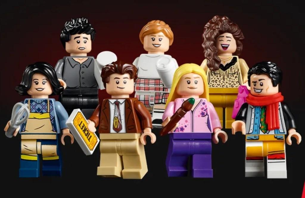 7 lego minifigures