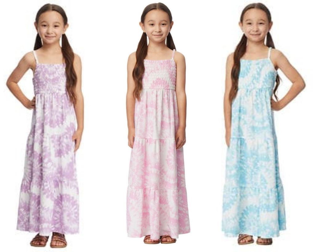 3 colors of 32 Degrees Girls Smock Top Dress