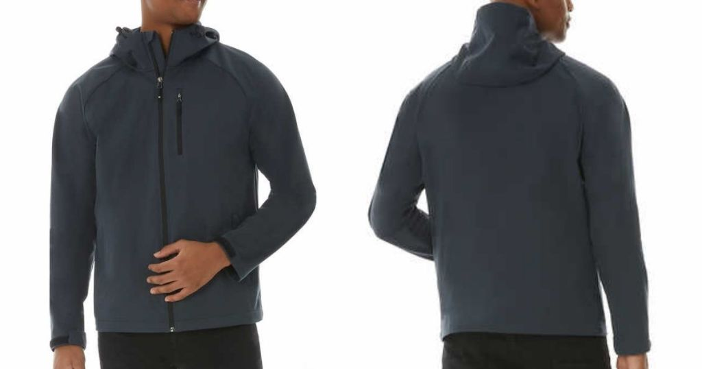 front and back view of 32 Degrees Men's Active Jacket