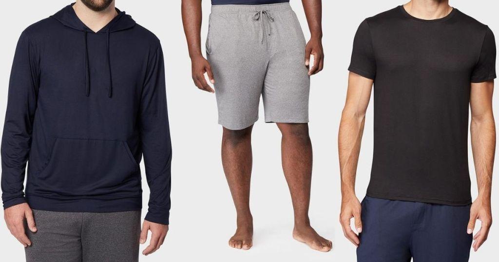 three men wearing 32 Degrees mens clothing