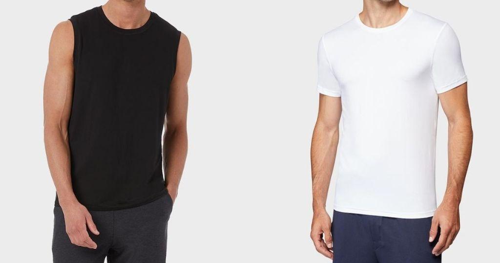 two men wearing 32 Degrees shirts