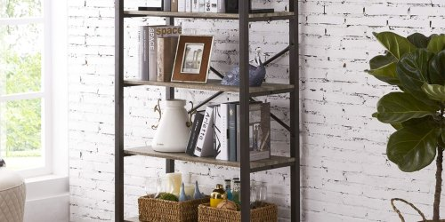 5-Tier Industrial Bookshelf Only $89.99 Shipped (Regularly $220)