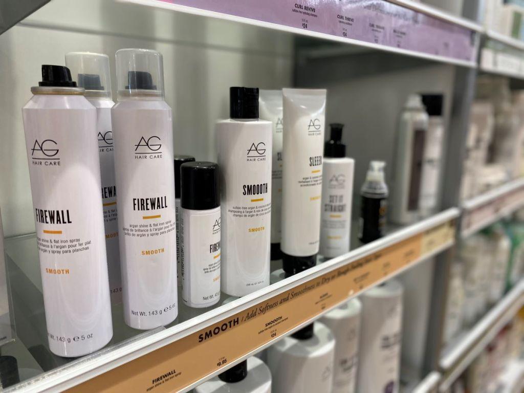 AG Hair Care on a shelf at ULTA