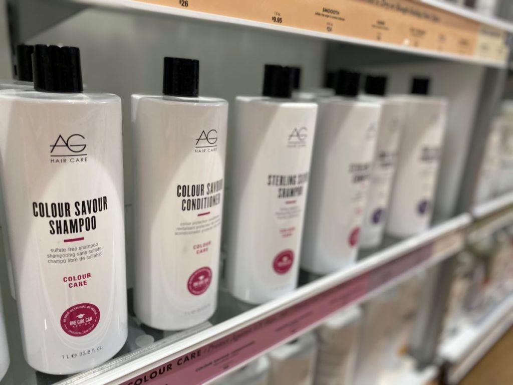 AG Hair Colour Care Colour Savour on a shelf