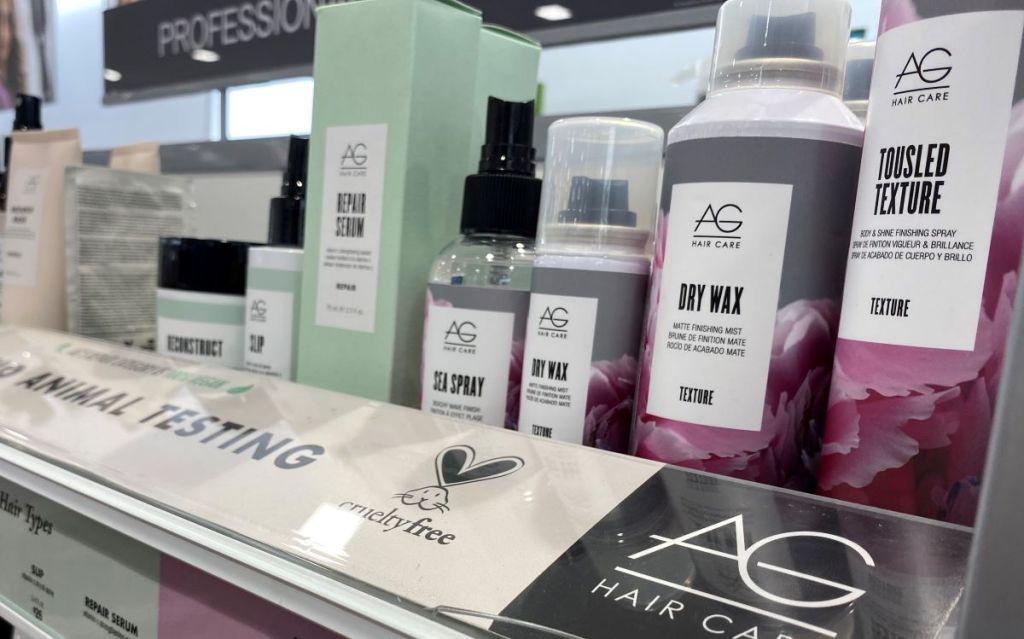 AG Hair Texture products on a shelf