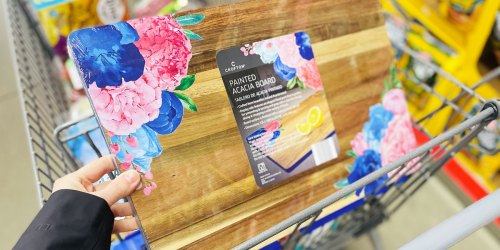 Floral Painted Cutting Board Only $9.99 at ALDI | Last-Minute Mother's Day Gift Idea