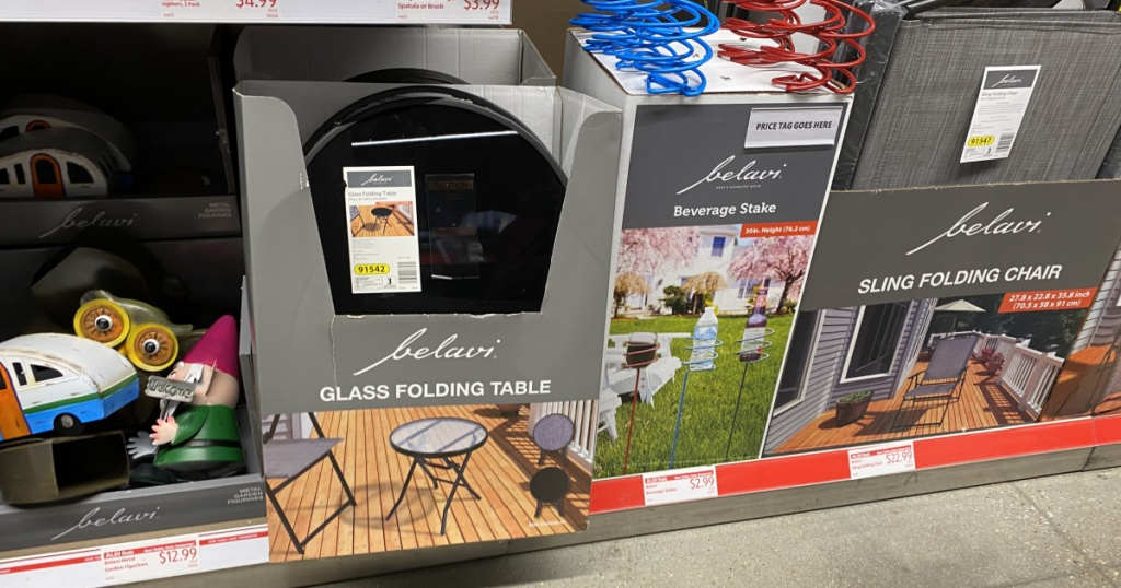 variety of patio items on display in-store