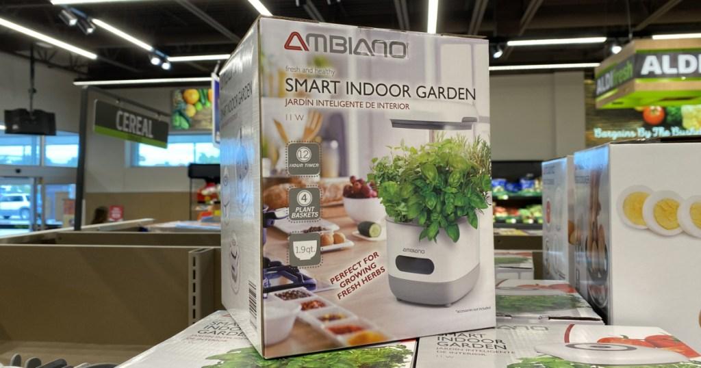 Indoor smart garden on display in-store