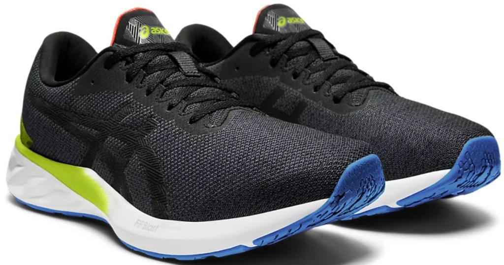men's black asics running shoes
