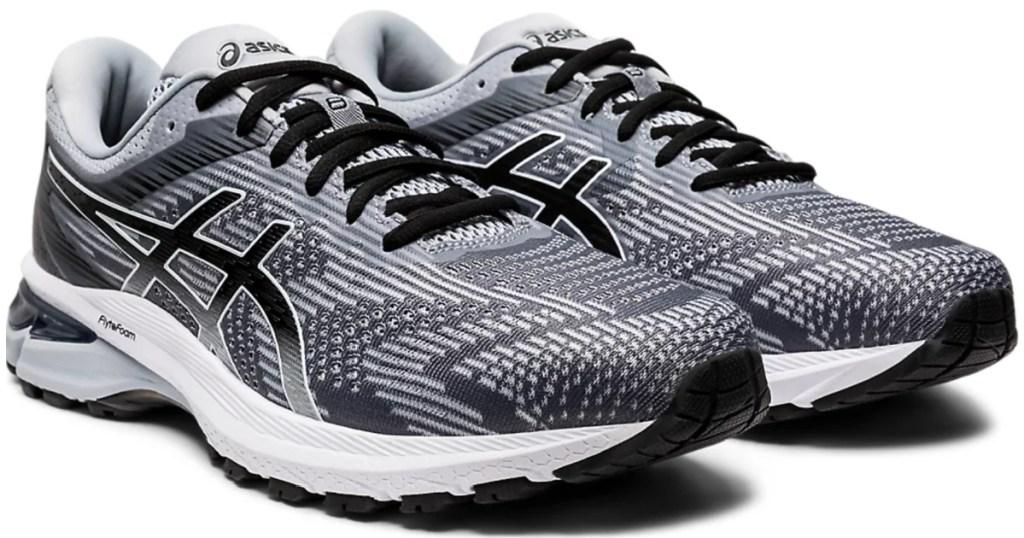 men's black grey asics running shoes