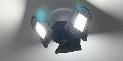 LED Adjustable Garage Lights from $14.80 Each Shipped on Amazon | Energy-Saving & Easy to Install