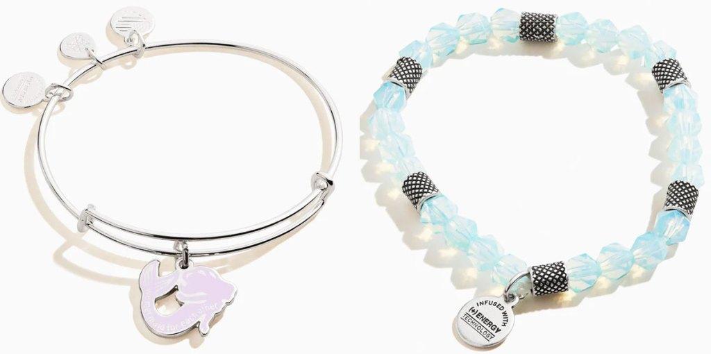 two alex & ani bracelets