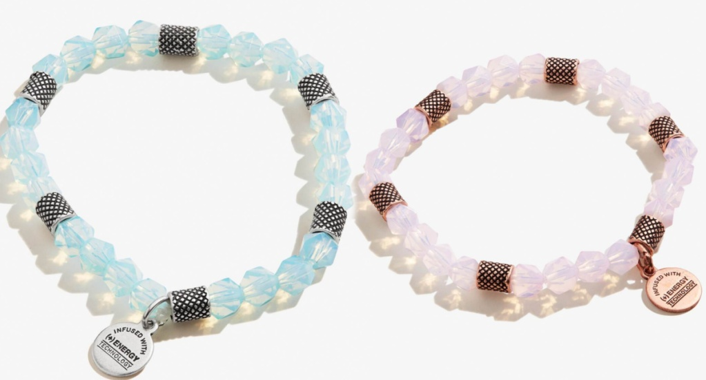 beaded charm bracelets in two colors