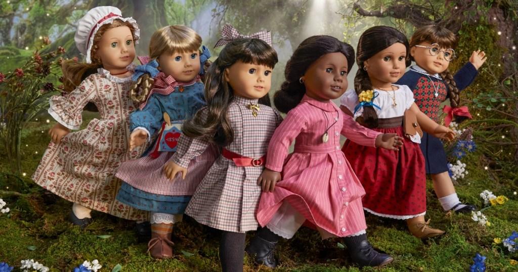 6 American Girl historical dolls