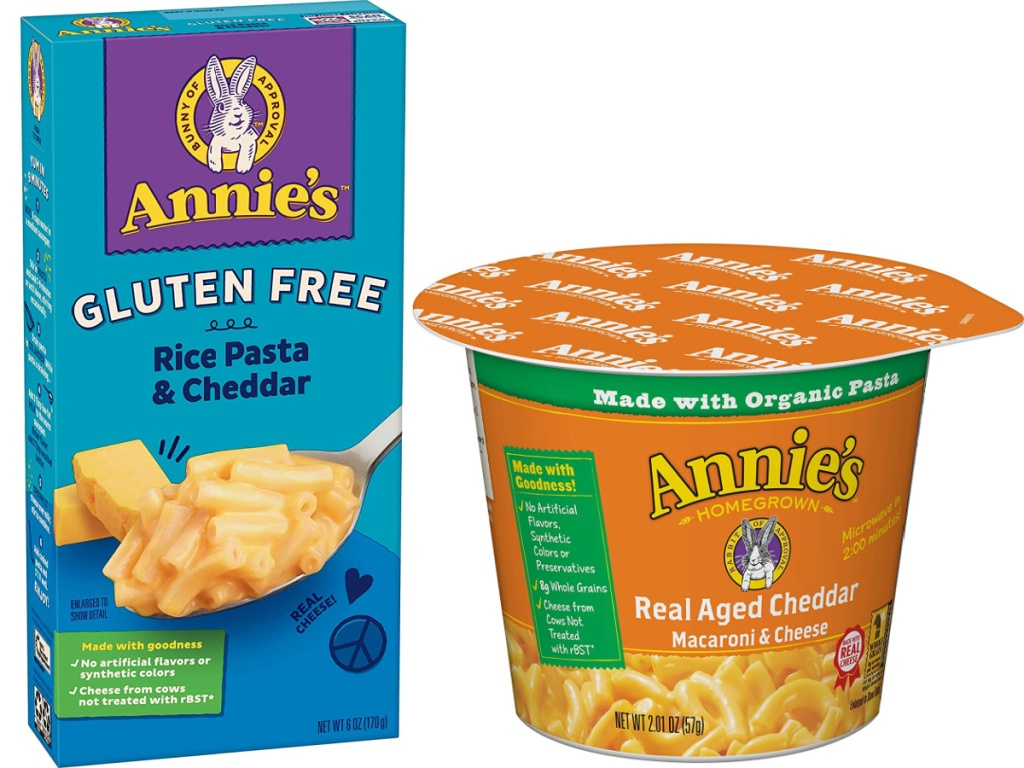 Annie's Gluten Free Rice Pasta & Cheddar and Mac & Cheese