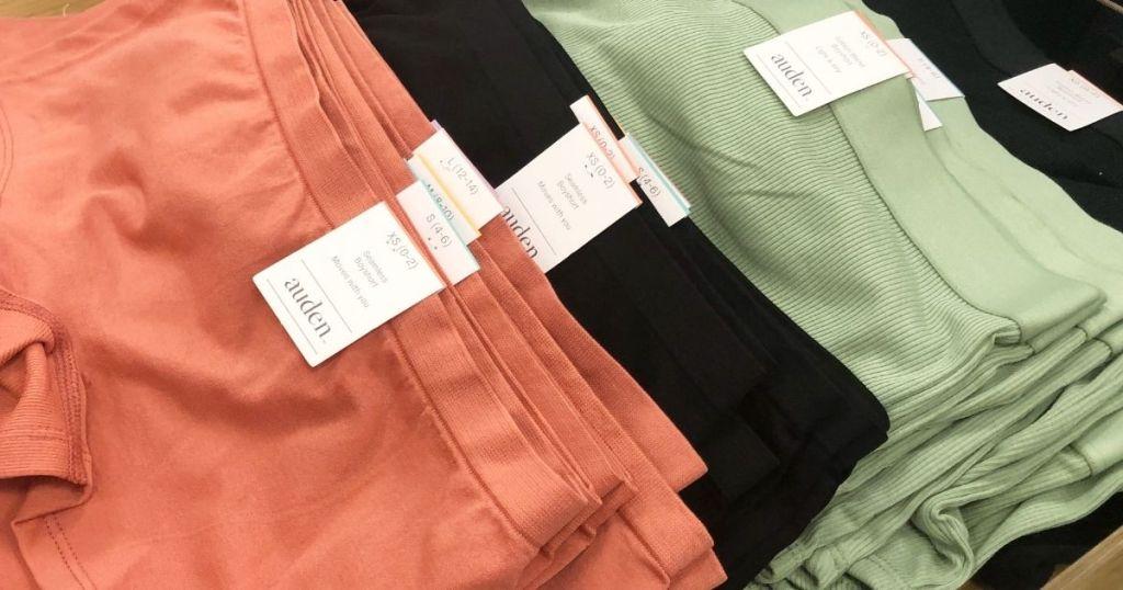 row of women's underwear