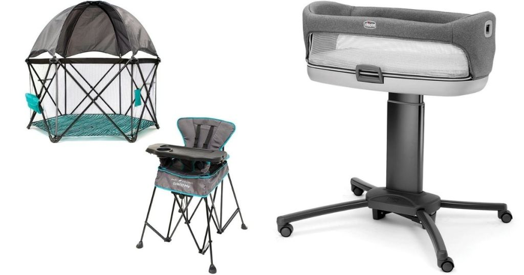 Baby Playard, High Chair and Bassinet