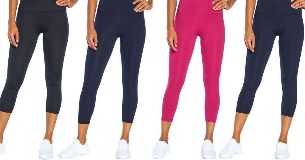 four women wearing leggings
