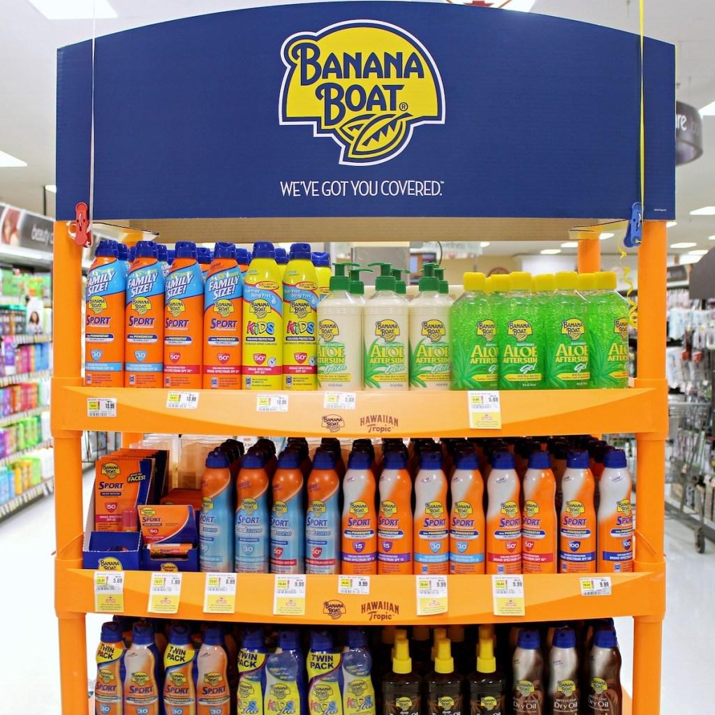Banana Boat display