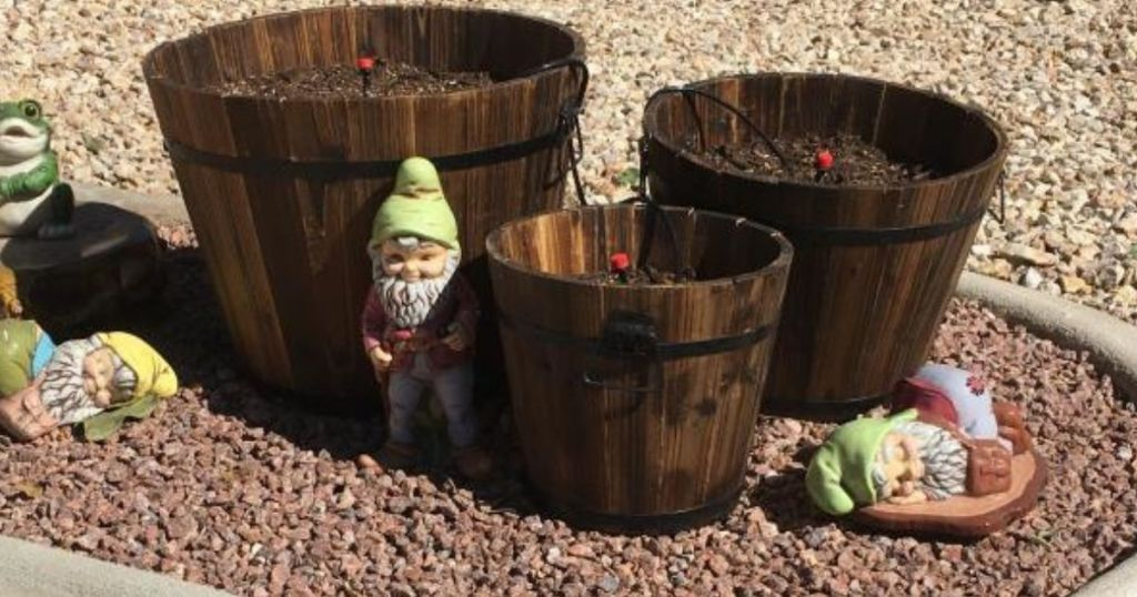 Barrel Planters 3-Pack