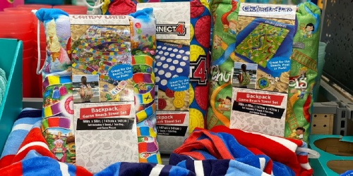 Backpack Beach Towel Game Sets Possibly Only $4.88 at Walmart (Regularly $15) | Candy Land, Connect 4, Clue & More