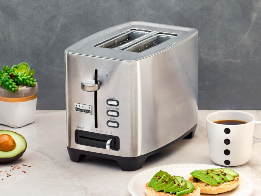 Bella Pro brand toaster on counter top