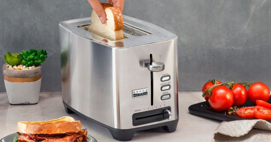 large stainless steel toaster