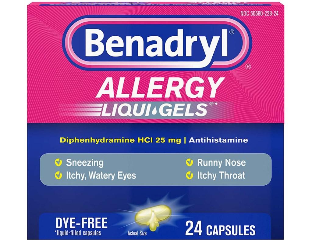 large pack of allergy medicine