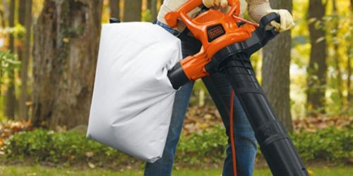 Black+Decker 3-in-1 Leaf Blower & Vacuum Only $79 Shipped on Amazon (Regularly $147)