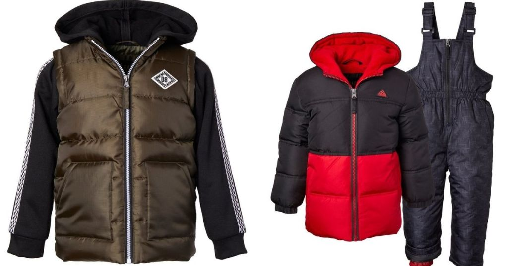 puffer jackets and snow pants