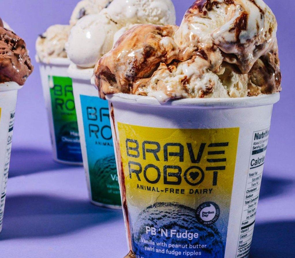 pints of brave robot ice cream