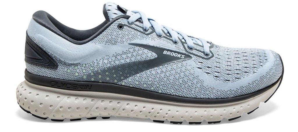 light blue brooks running shoe